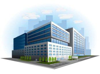 commercial-building-design-03-vector-material-30429
